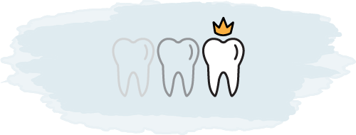 A tooth crown logo